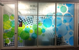Printed Frosted Crystal Window Graphics
