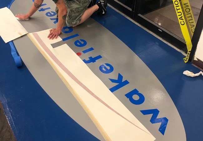 Floor Graphics | Digital Color Graphics | Manufacturing | Pelham, NH