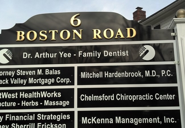 6 Boston Rd Directory Outdoor display NH MA