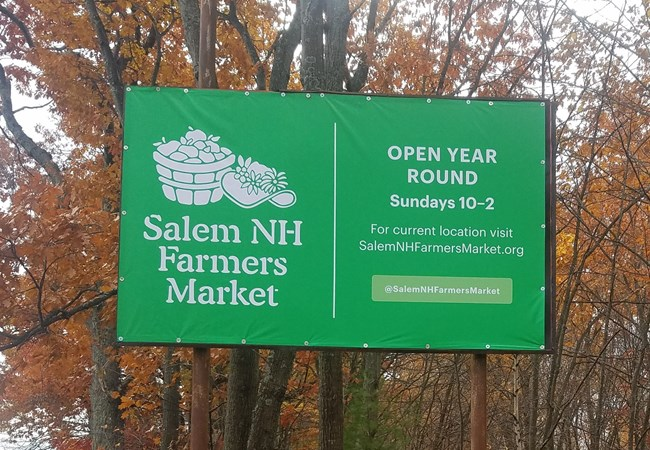 Outdoor Billboard Salem Farmers Market Salem NH